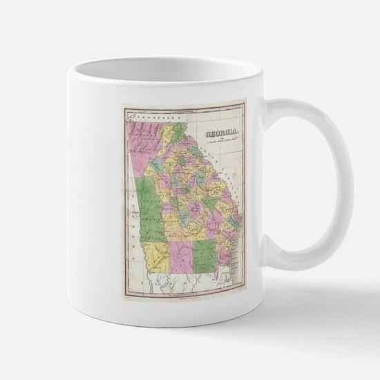 Vintage Map of Georgia (1827) Mugs
