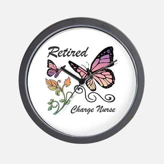 Retired Charge Nurse Wall Clock