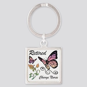 Retired Charge Nurse Square Keychain