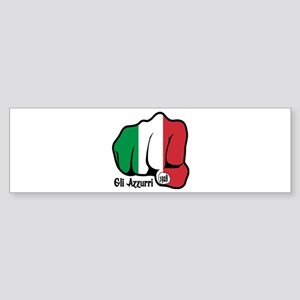 Italian Fist 1928 Bumper Sticker