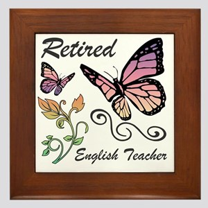 Retired English Teacher Framed Tile