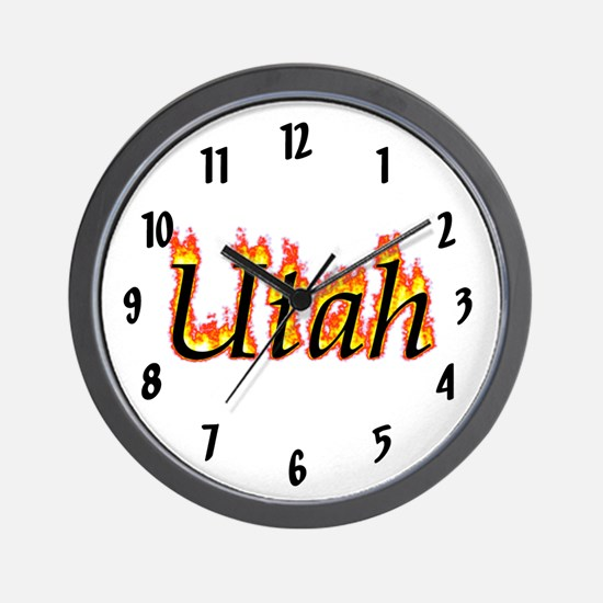 Utah Flame Wall Clock