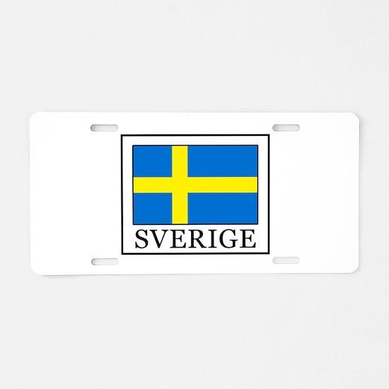 Sverige Aluminum License Plate