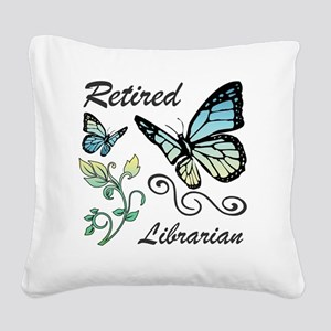 Retired Librarian Square Canvas Pillow