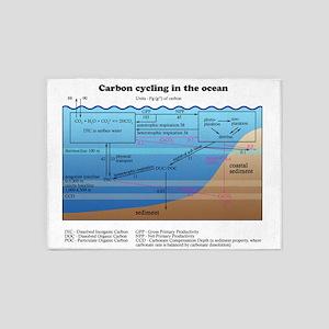 Ocean carbon cycle 5'x7'Area Rug