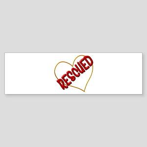 Rescued Heart Bumper Sticker