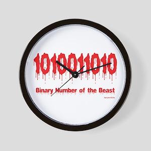 Binary Number Wall Clock