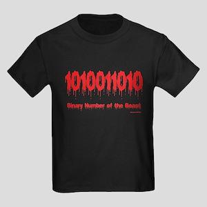 Binary Number Kids Dark T-Shirt