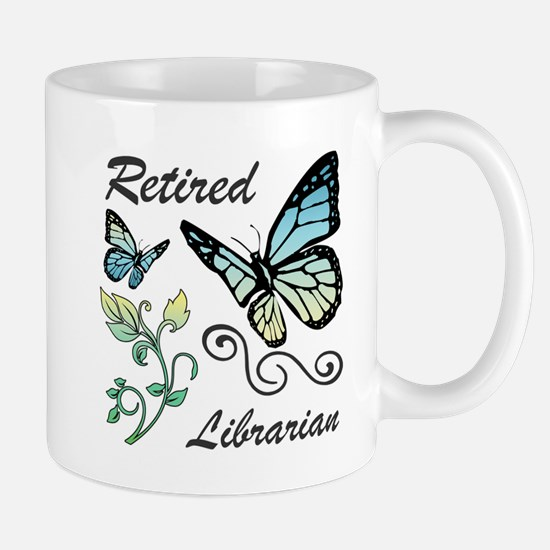Retired Librarian Mugs