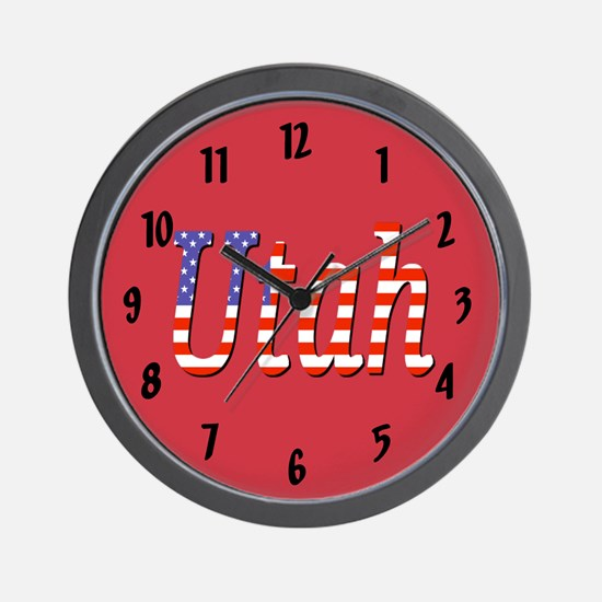 Patriotic Utah Wall Clock