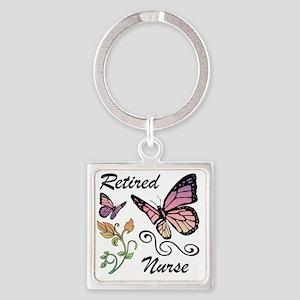 Retired Nurse Square Keychain