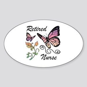 Retired Nurse Sticker (Oval)