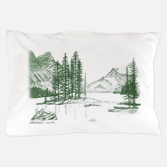 Cute Green lake Pillow Case