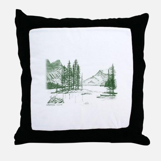 Cute Cadillac mountain Throw Pillow
