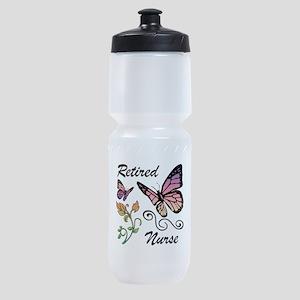 Retired Nurse Sports Bottle