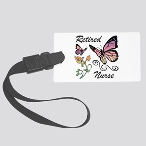 Retired Nurse Large Luggage Tag