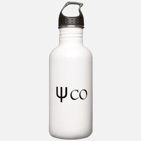 Psycho Black Design. Water Bottle