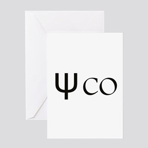 Psycho Black Design. Greek Letter Greeting Cards