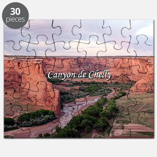 Canyon de Chelly at sunset (caption) Puzzle