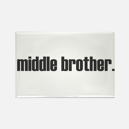 middle brother plain Rectangle Magnet