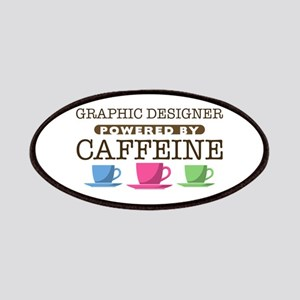 Graphic Designer Powered by Caffeine Patches