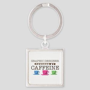 Graphic Designer Powered by Caffeine Square Keycha