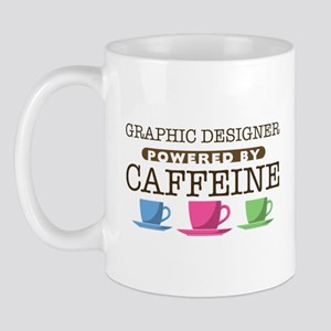 Graphic Designer Powered by Caffeine Mug