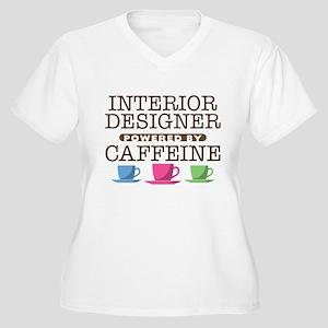 Interior Designer Powered by Caffeine Women's Plus