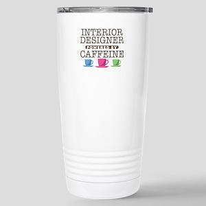 Interior Designer Powered by Caffeine Ceramic Trav