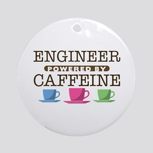 Engineer Powered by Caffeine Round Ornament