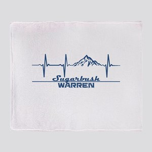 Sugarbush Resort - Warren - Vermon Throw Blanket