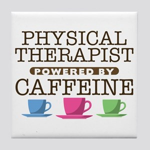 Physical Therapist Powered by Caffeine Tile Coaste