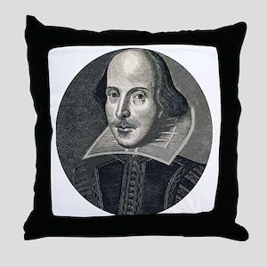 Wm Shakespeare Throw Pillow
