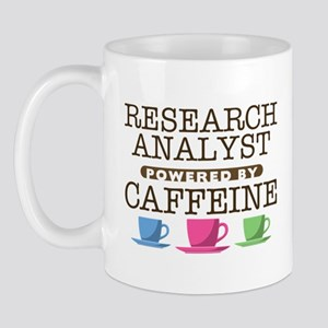 Research Analyst Powered by Caffeine Mug