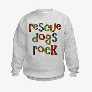 Rescue Dogs Rock Pet Dog Lover Kids Sweatshirt