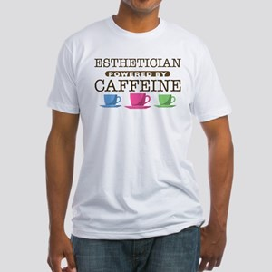 Esthetician Powered by Caffeine Fitted T-Shirt