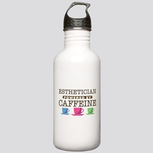 Esthetician Powered by Caffeine Stainless Water Bo