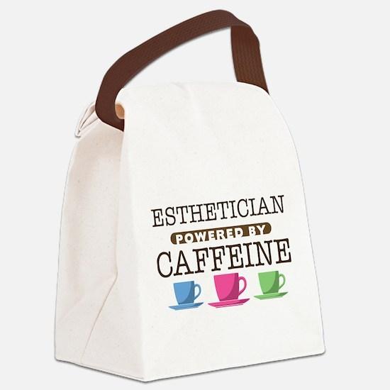 Esthetician Powered by Caffeine Canvas Lunch Bag