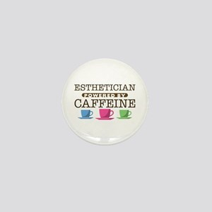 Esthetician Powered by Caffeine Mini Button