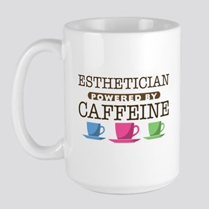 Esthetician Powered by Caffeine Large Mug