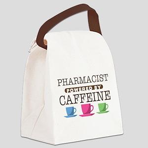 Pharmacist Powered by Caffeine Canvas Lunch Bag