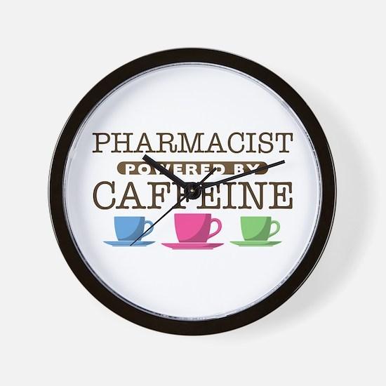 Pharmacist Powered by Caffeine Wall Clock