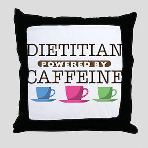 Dietitian Powered by Caffeine Throw Pillow