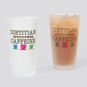 Dietitian Powered by Caffeine Drinking Glass