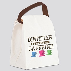 Dietitian Powered by Caffeine Canvas Lunch Bag