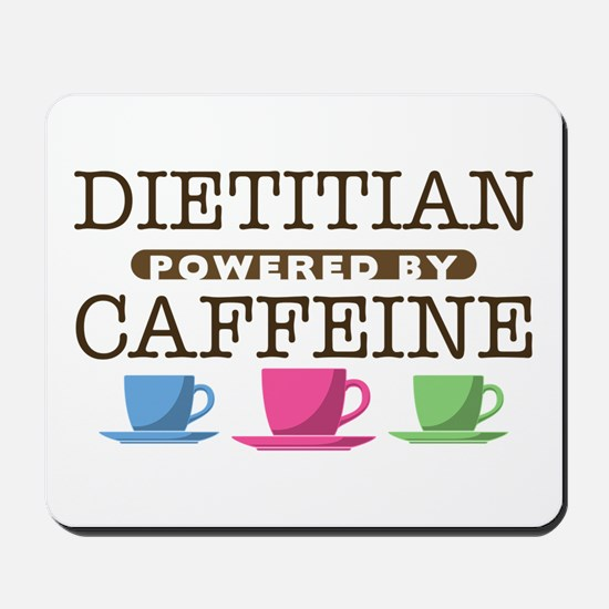Dietitian Powered by Caffeine Mousepad