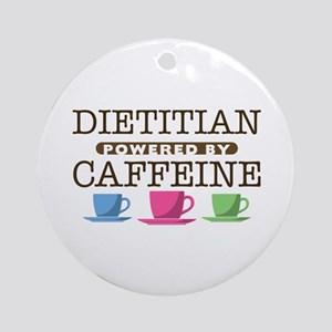 Dietitian Powered by Caffeine Round Ornament