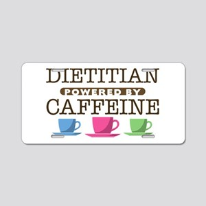 Dietitian Powered by Caffeine Aluminum License Pla
