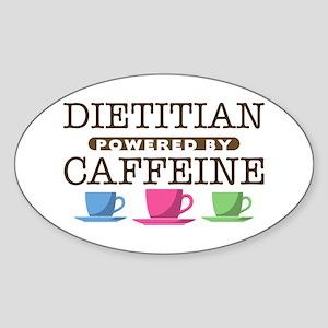 Dietitian Powered by Caffeine Oval Sticker