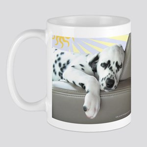 Dalmatian Sleeping in Car Mugs